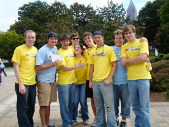 A flashback photo from Gamma Alpha's past