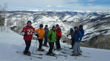 Gamma Alphas took to the slopes for annual get-together